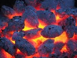 coal on a fire