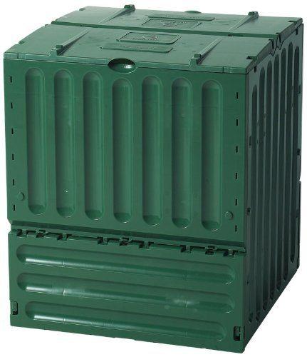 large green plastic compost bin