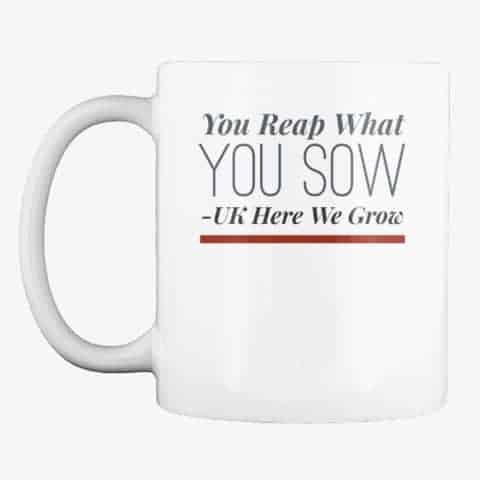 reap what you sow mug