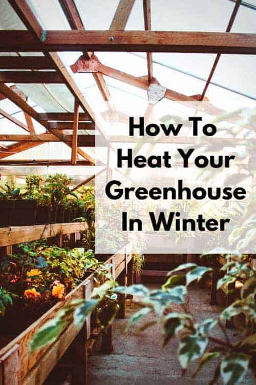 Greenhouse heating in winter