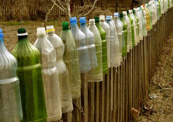 plastic bottle fence top protector
