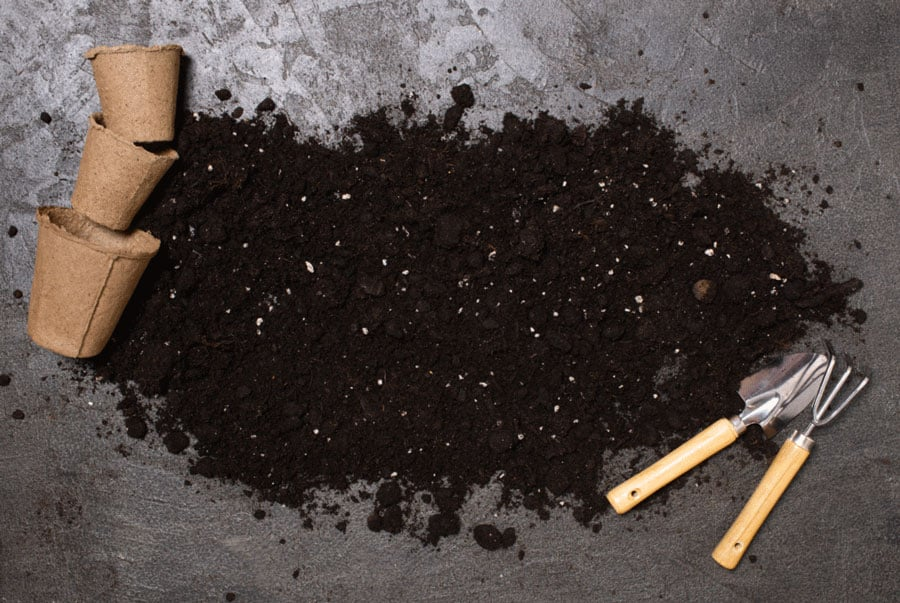 compost and potting tools