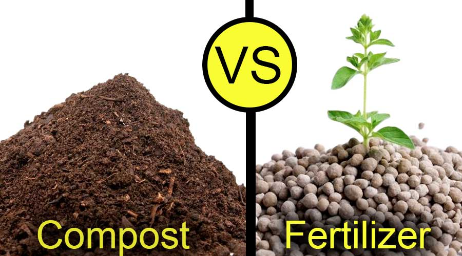 picture of compost vs fertilizer