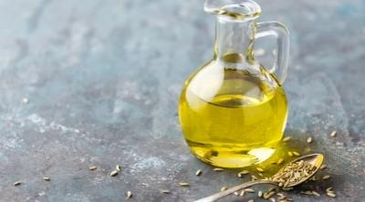 fennel essential oil in a bottle