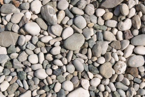 Different garden stones, rocks and gravel