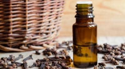 clove essential oil in a bottle