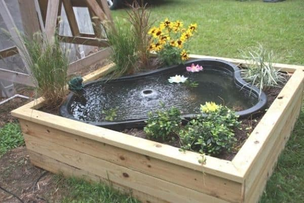 Picture of planter box with a pond