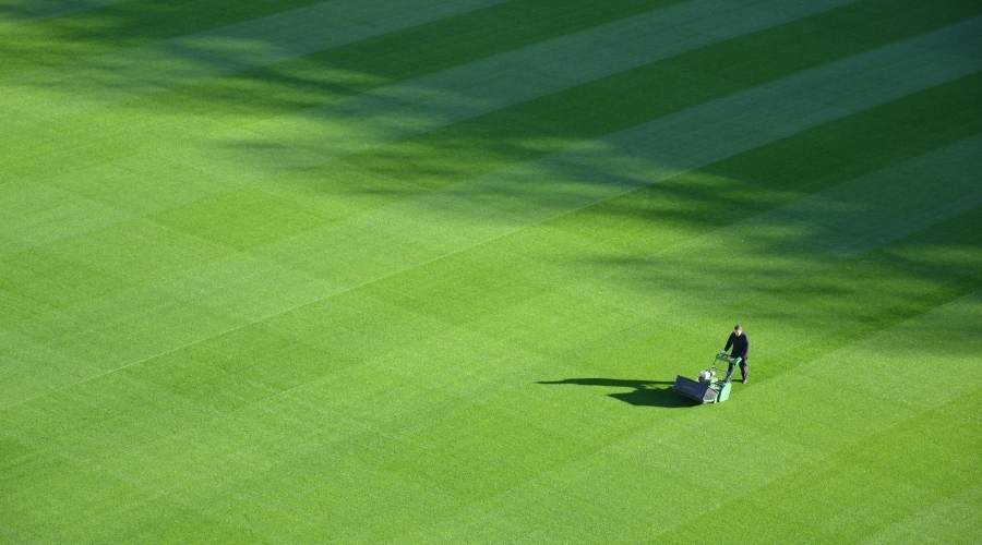 Picture of a Sports Field being mowed