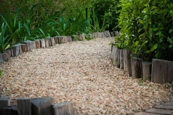 Picture of a gravel path in a garden