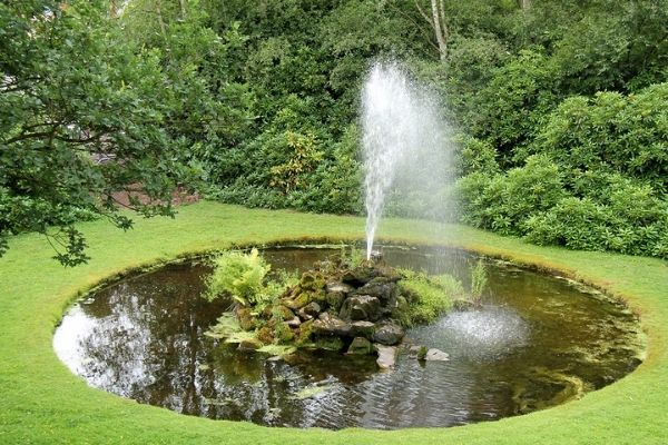 picture of pond fountain