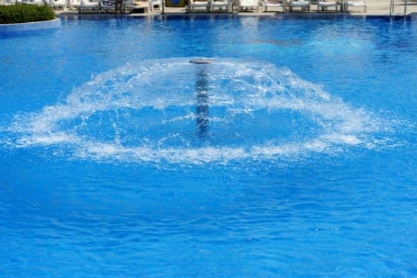 picture of swimming pool fountain